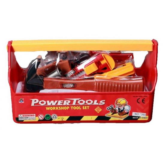 Speelgoed gereedschapset in kist