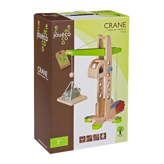 Speelgoed hijskraan van eco hout
