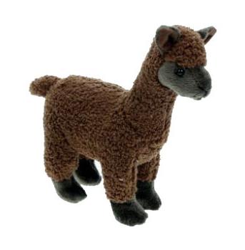 Speelgoed knuffels bruine lama 23 cm