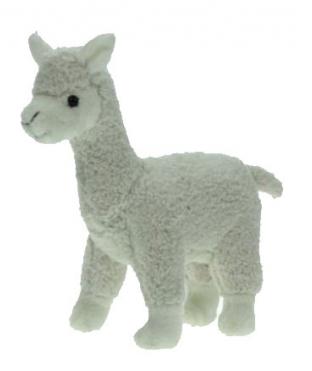 Speelgoed knuffels witte lama 23 cm