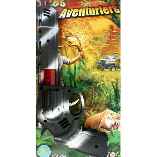 Speelgoed pistool camouflage 28 cm