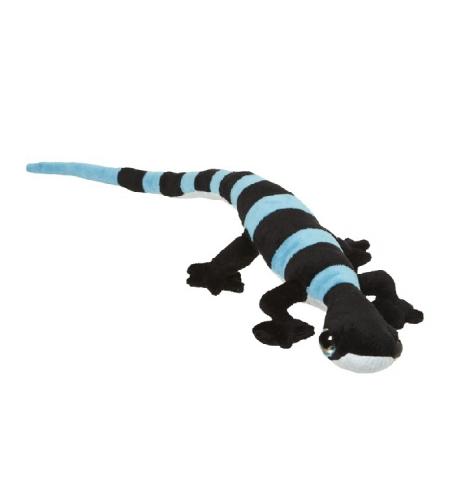 Speelgoed pluche gekko blauw