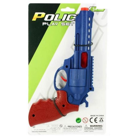 Speelgoed politiepistool rood met blauw