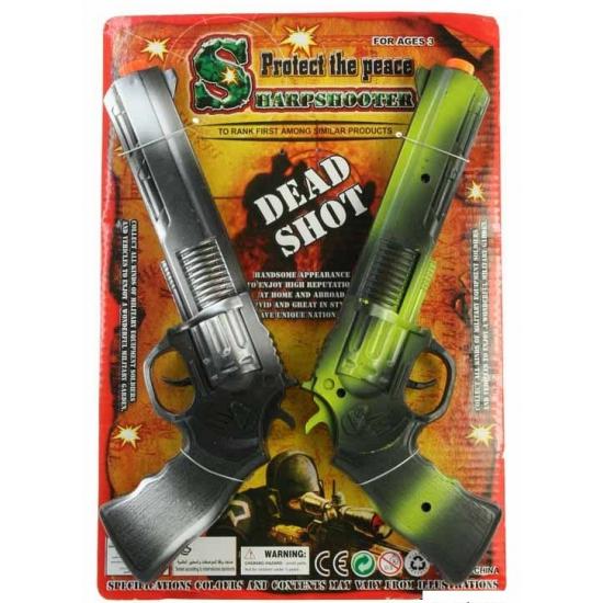 Speelgoed ratelgeweer 2 stuks