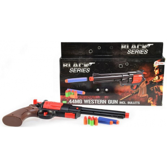 Speelgoed revolver met foam kogels