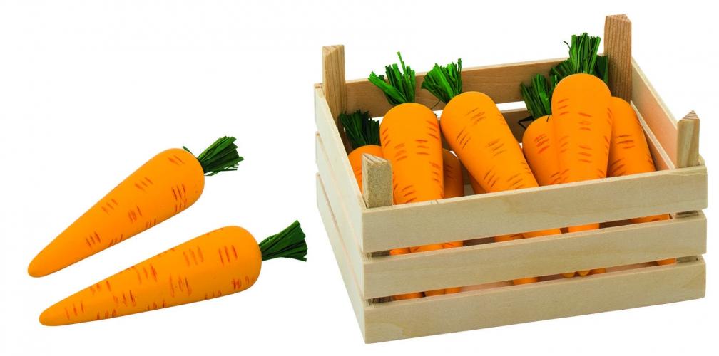 Speelgoed wortels met kist