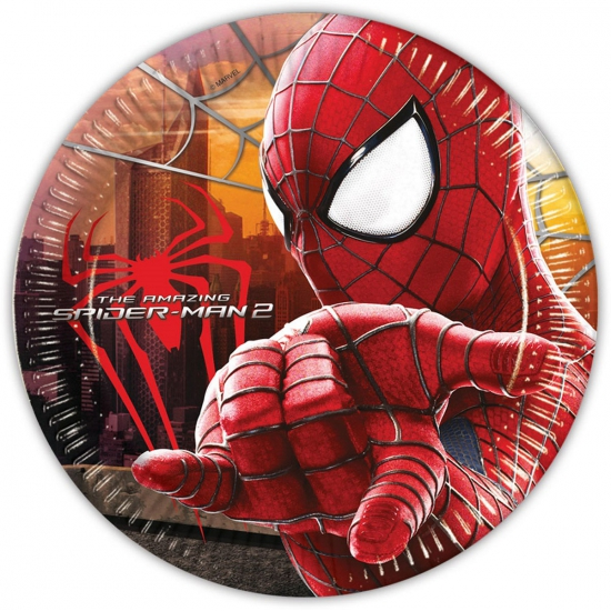 Spiderman feest bordjes 8 stuks