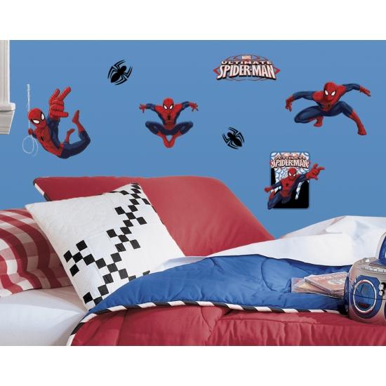 Spiderman gekleurde muur stickers