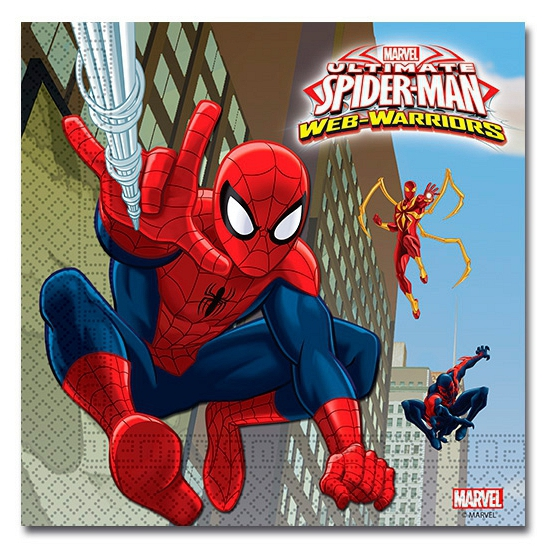 Spiderman Warriors servetten 20 stuks