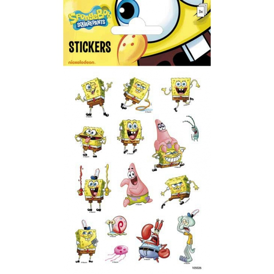 Spongebob stickers 3 velletjes