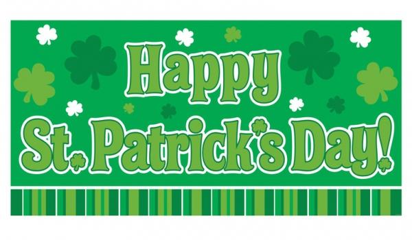 St. Paddys banner groen
