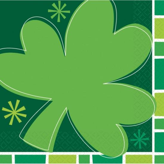 St. Patricks Day klavertje drie servetten