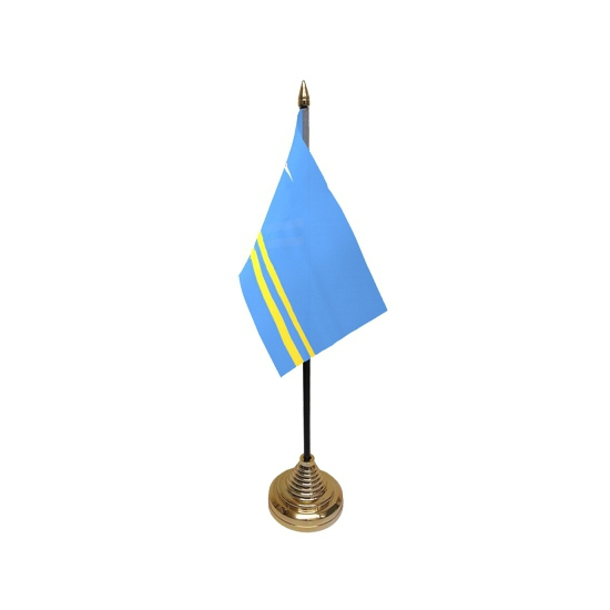 Standaard met vlaggetje Aruba