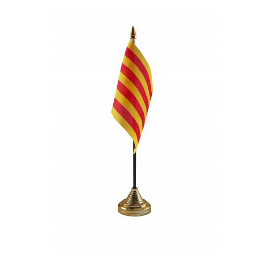 Standaard met vlaggetje Catalonie
