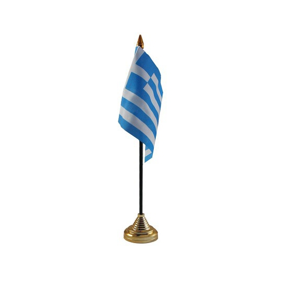 Standaard met vlaggetje Griekenland