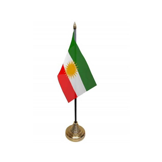 Standaard met vlaggetje Koerdistan