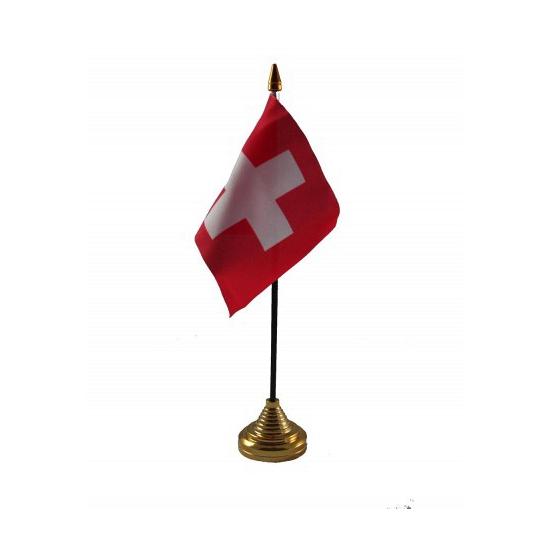 Standaard met vlaggetje Zwitserland