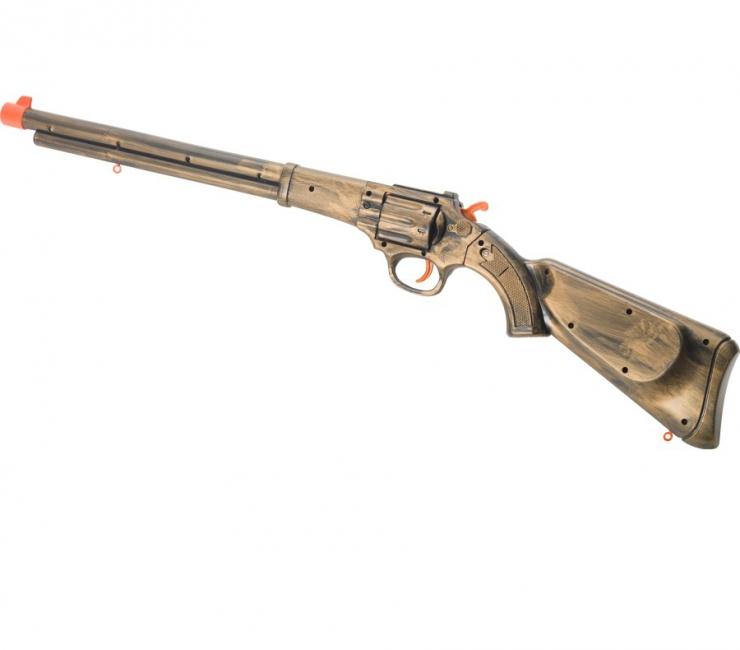 Steampunk geweer in goudkleur