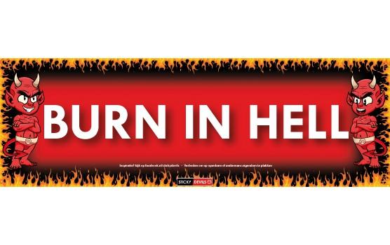 Sticky Devil stickers tekst burn in hell