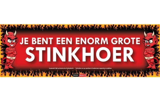 Stinkhoer Sticky Devil sticker