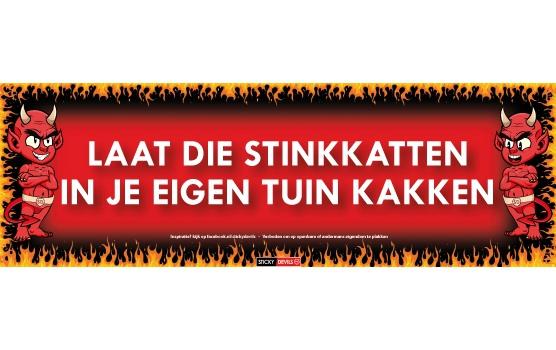 Stinkkatten Sticky Devil sticker