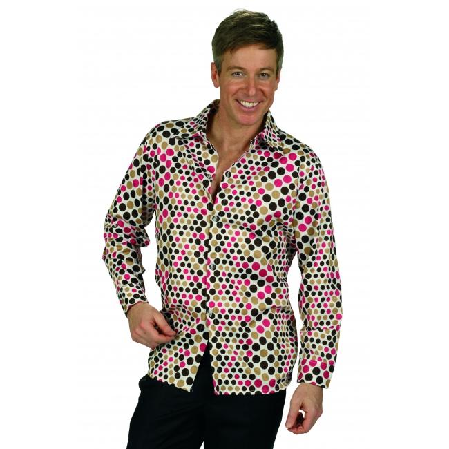 Stippen disco overhemd voor heren