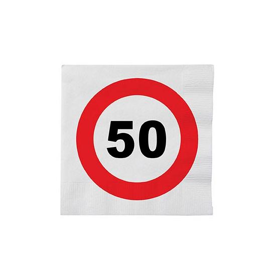 Stopbord servetten 50 jaar van papier