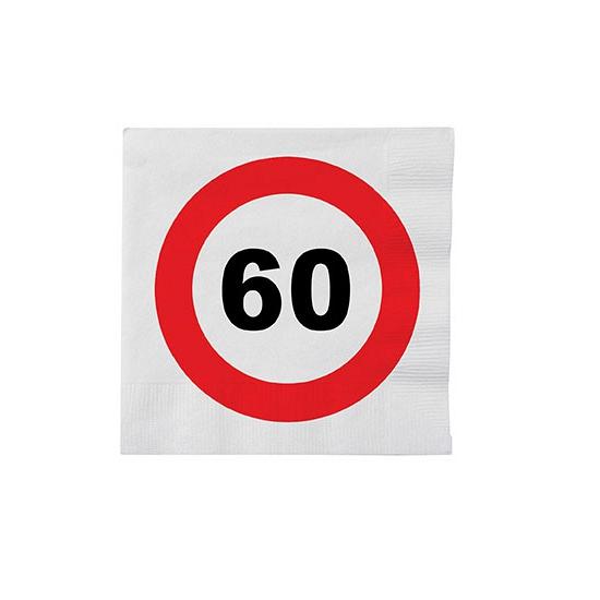Stopbord servetten 60 jaar