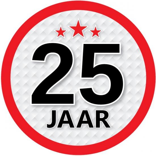 Stopbord sticker 25 jaar