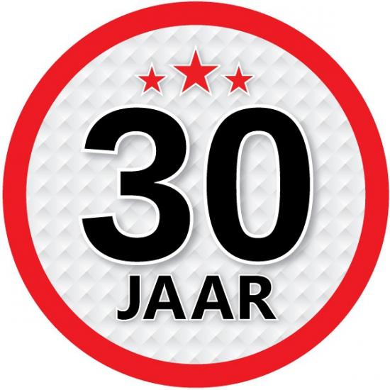 Stopbord sticker 30 jaar