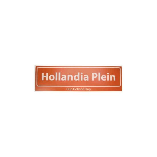 Straatbordjes Hollandia Plein Hup Holland Hup