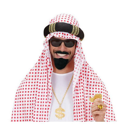 Sultan baard met snor zwart