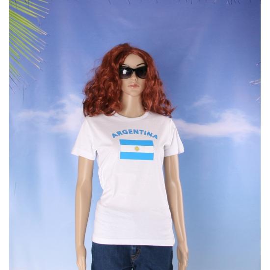 T shirt met vlag Argentinie print voor dames