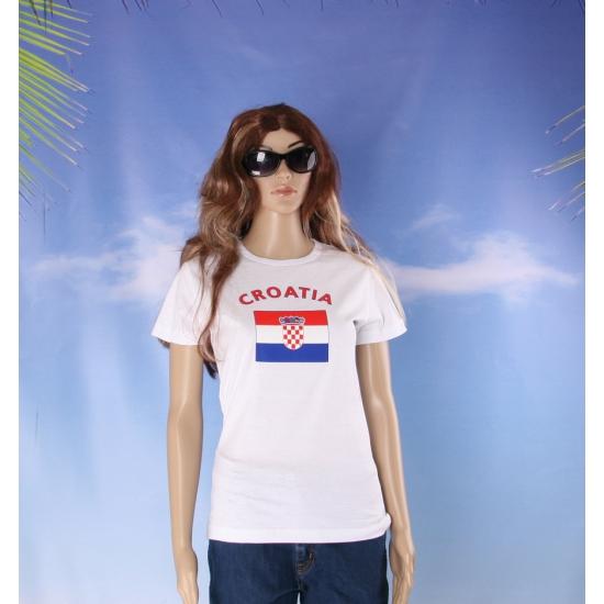 T shirt met vlag Kroatische print voor dames