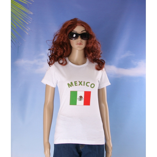 T shirt met vlag Mexico print voor dames