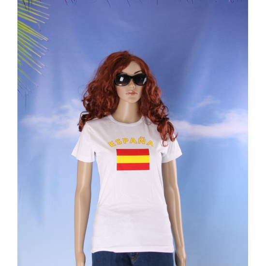 T shirt met vlag Spaanse print voor dames
