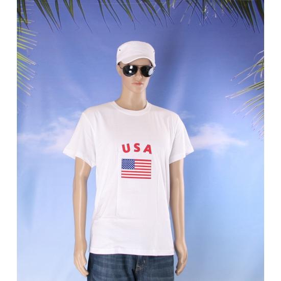 T shirts met vlag Amerikaanse print