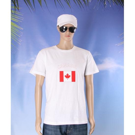 T shirts met vlag Canada
