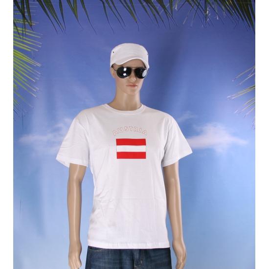 T shirts met vlag Oostenrijk