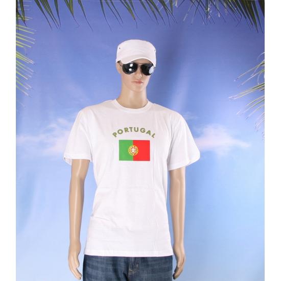 T shirts met vlag Portugal print