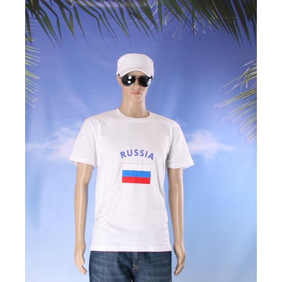 T shirts met vlag Russia print