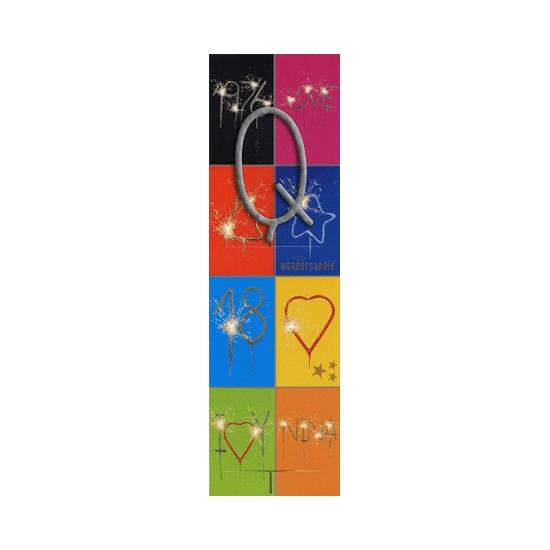 Taart sterretjes letter Q van 7 cm