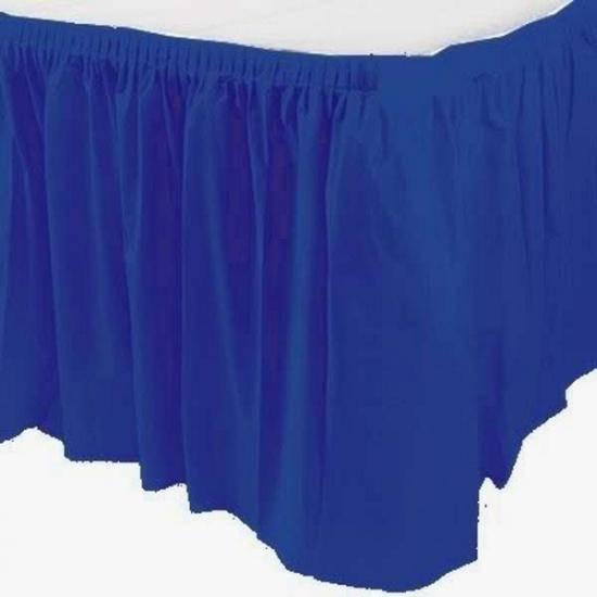 Tafelkleed randen donkerblauw