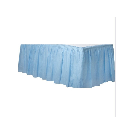 Tafelkleed randen lichtblauw