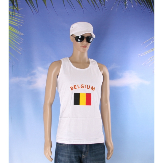 Tanktop met vlag Belgie print
