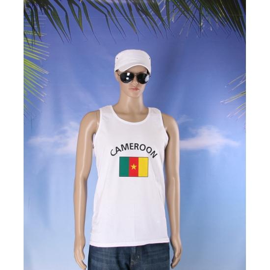 Tanktop met vlag Cameroon print