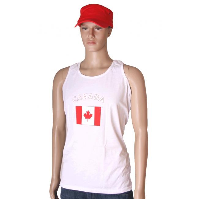 Tanktop met vlag Canada print