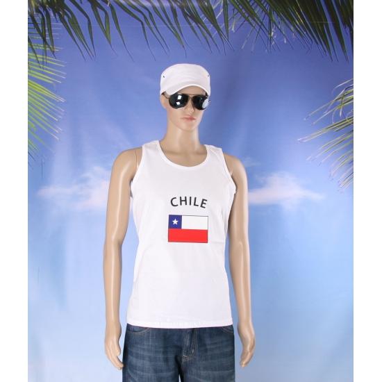 Tanktop met vlag Chili print