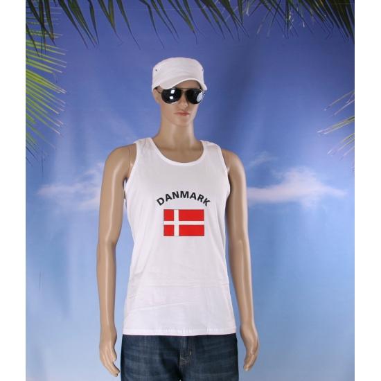 Tanktop met vlag Denemarken print