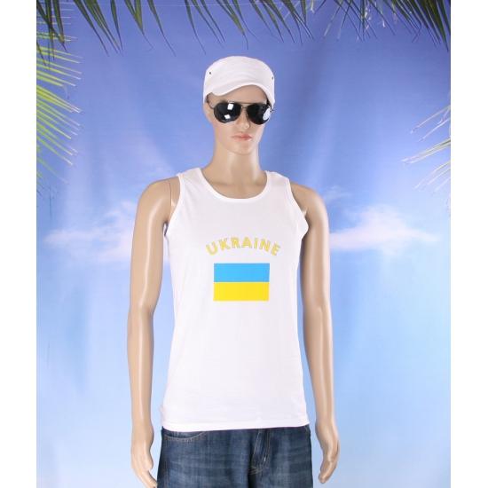 Tanktop met vlag Oekraine print